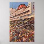 Vacances vintages de bateau de croisière ; Partie