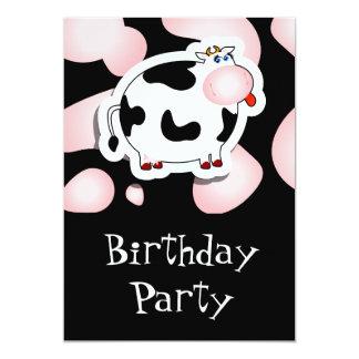 Vache à bande dessinée, invitation