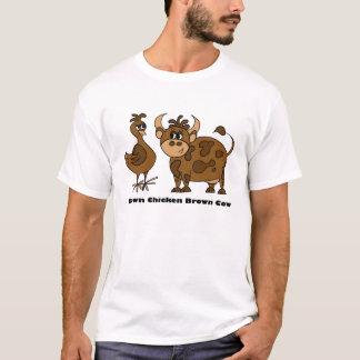 Vache à Brown de poulet de Brown - T-shirt