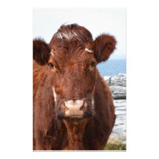 Vache à Brown Motifs Pour Papier À Lettre