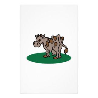 Vache à Brown Papier À Lettre Personnalisé