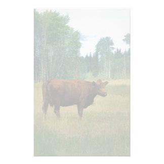 Vache à Brown sur un cheval et un bétail Papiers À Lettres