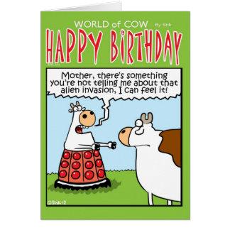 Vache à invasion ! carte de vœux