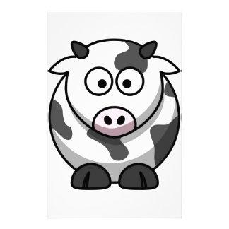 vache à MOO de bande dessinée Papier À Lettre Personnalisé