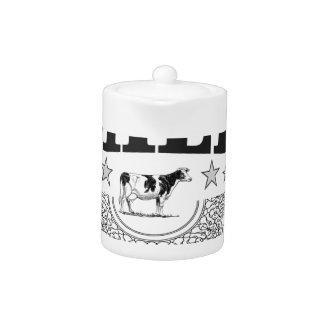 Vache à noir de lait d'étoile
