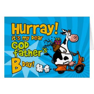 vache à scooter du BD - parrain Carte De Vœux