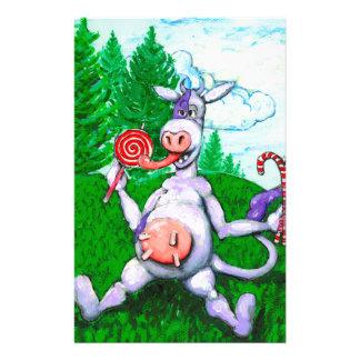 Vache à sucrerie motifs pour papier à lettre