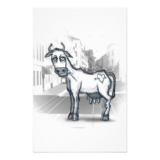 vache à ville papiers à lettres