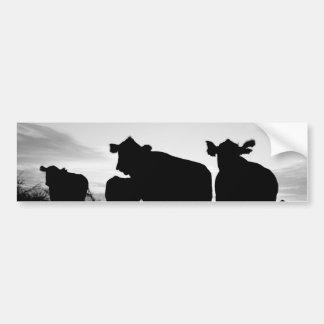 vache autocollant de voiture