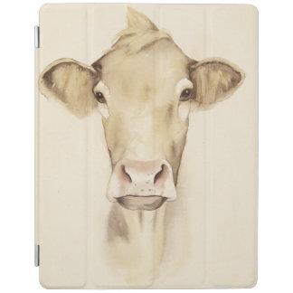 Vache aux animaux   de grange d'aquarelle protection iPad