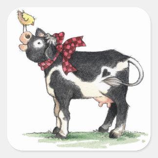 Vache avec l'arc - autocollants