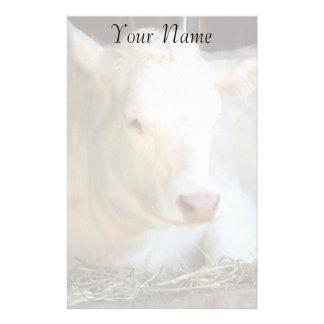 Vache blanche papier à lettre