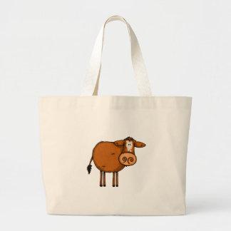 vache brune grand sac