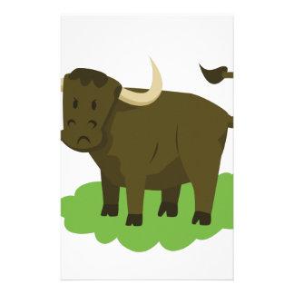 vache dans l'herbe papier à lettre customisé