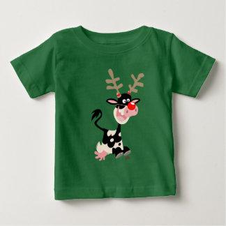 Vache déguisant en tant que T-shirt de bébé de