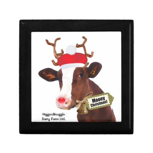 Vache dr le renne de p re no l bo te cadeau d 39 coffret cadeau zazzle - Cadeau de noel a vendre ...