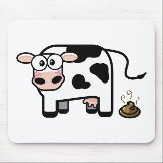 Vache drôle Mousepad à Pooping Tapis De Souris