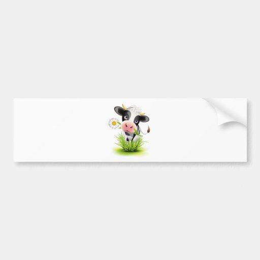 Vache du Holstein dans l'herbe Adhésif Pour Voiture
