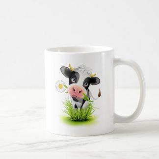 Vache du Holstein dans l'herbe Mug