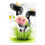 Vache du Holstein dans l'herbe Papier À Lettre Personnalisé