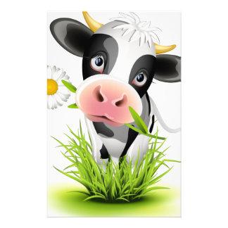 Vache du Holstein dans l'herbe Papier À Lettre