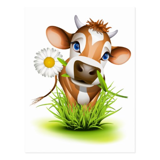 Vache du Jersey dans l'herbe Cartes Postales