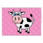 Vache heureuse - personnalisable ! cartes de vœux