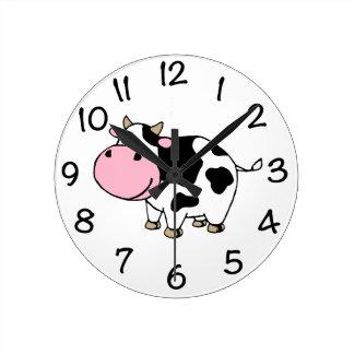 Vache Horloge Ronde