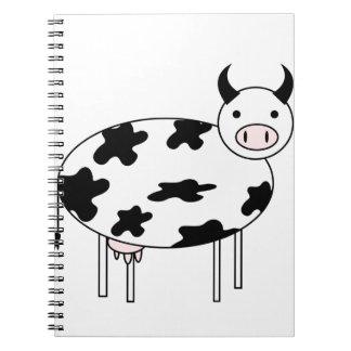 Vache illustrée carnet à spirale