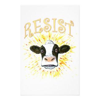 Vache laitière de résistance papier à lettre customisable