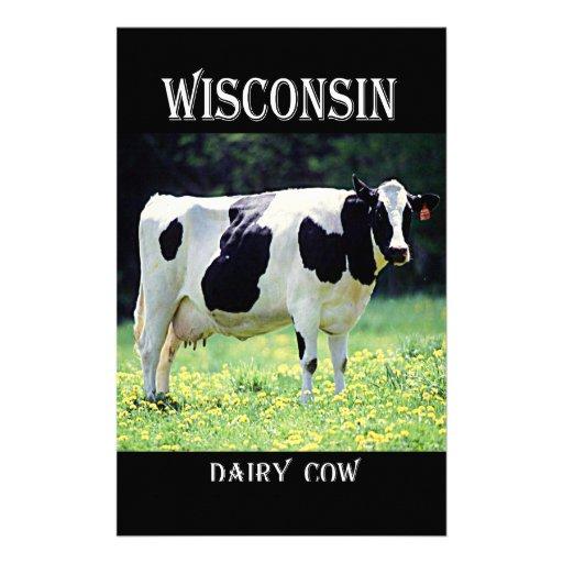Vache laitière du Wisconsin Papier À Lettre Personnalisable