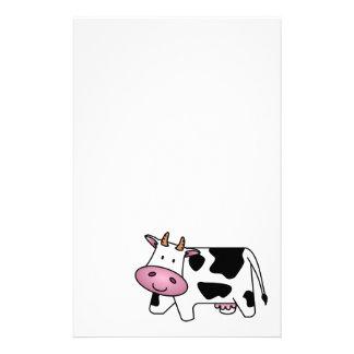 Vache laitière mignonne papier à lettre customisable