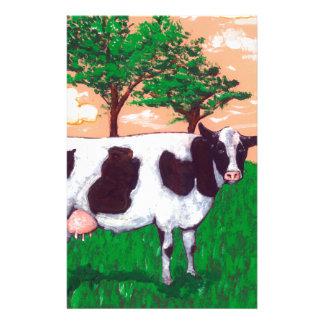 Vache laitière provoquante papier à lettre personnalisable