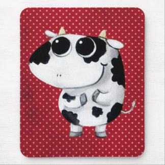 Vache mignonne à bébé tapis de souris