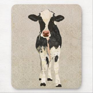 Vache Mousepad à onyx et à ivoire Tapis De Souris