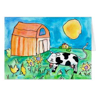 Vache • Nick Abrams, âge 15 Cartes De Vœux
