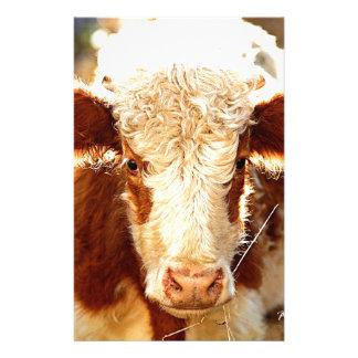 Vache Papier À Lettre Personnalisable
