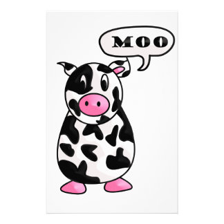 vache papier à lettre