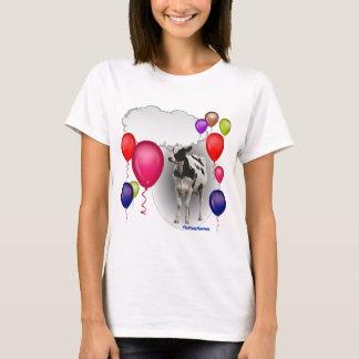 vache parlante à anniversaire t-shirt
