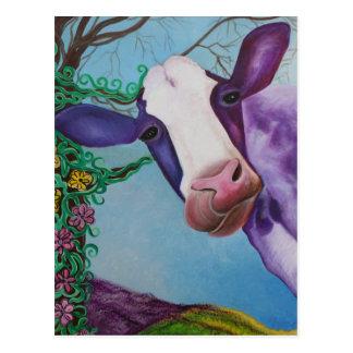 Vache pourpre carte postale