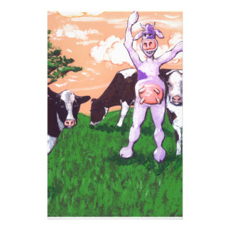 Vache pourpre provoquante papeterie