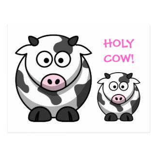 Vache SAINTE à nez de rose de bande dessinée de Cartes Postales