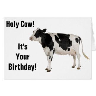 Vache sainte ! Carte d'anniversaire !