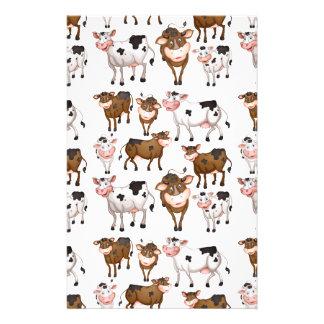 Vache sans couture papier à lettre
