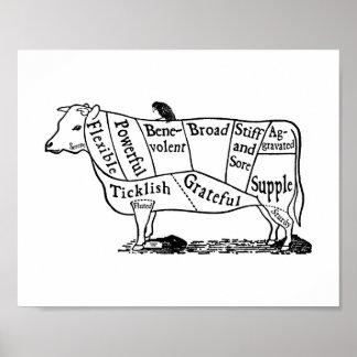 Vache végétalienne affiches