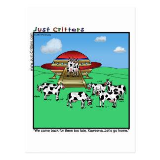Vaches à aliens carte postale