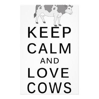 vaches à amour papier à lettre personnalisable