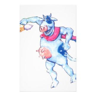 Vaches à neige papier à lettre customisable