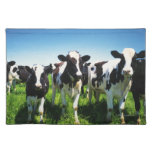 Vaches dans le domaine, ville de Betsukai, Hokkaid Sets De Table