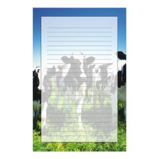 Vaches dans le domaine, ville de Betsukai, Papeterie